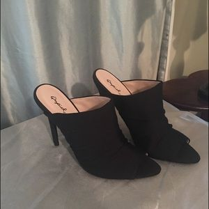 Qupid Shoes - Quipid Fraser 35~black stretchy heels